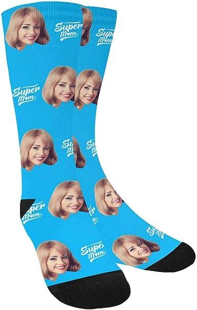 Blue Flowers Custom Mother/'s Day Socks