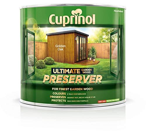 (Cuprinol Ultimate Garden Wood Preserver Golden Oak 1L )
