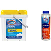 Clorox Pool&Spa XtraBlue Chlorinating Granules,6 Pounds & Spa 50016CSP Antifoam, 16-Ounce