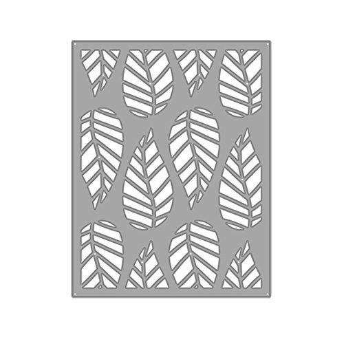 AkoMatial Cutting Dies,Striped Leaf Design Embossing Cutting Dies Tool Stencil Template Mold Card Making Scrapbook Album Paper Card Craft,Metal