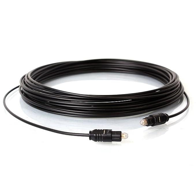 de Easyday PS3 Cable /óptico de Audio Digital Toslink SPDIF Chapado en Oro para CD Xbox 5 pies//1,5 m, Delgado/_OD2,0 mm DVD