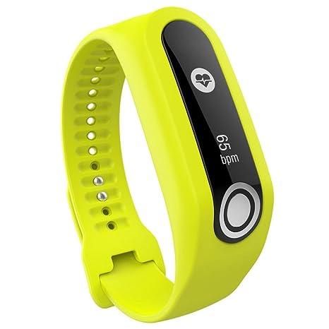 Para TomTom Touch Cardio pulsera, bescita Reemplazo Banda de silicona correa para TomTom Touch Cardio actividad Tracker GPS Running Smartwatch, color ...
