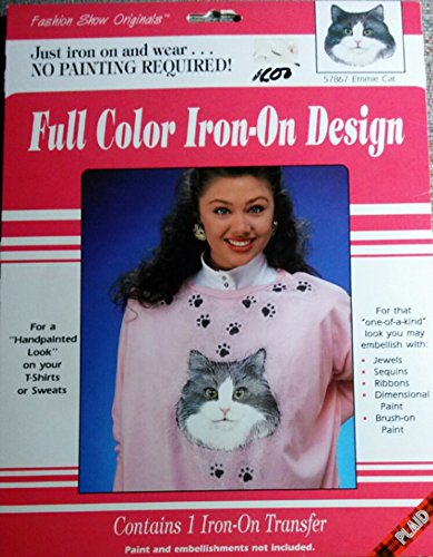 Full Color Iron-On Design - Emmie - The Cat Emmy