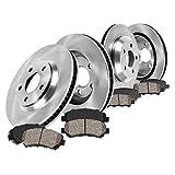 Callahan FRONT 300 mm + REAR 294 mm Premium OE 5 Lug [4] Brake Rotors + [8] Ceramic Pads CRK01266