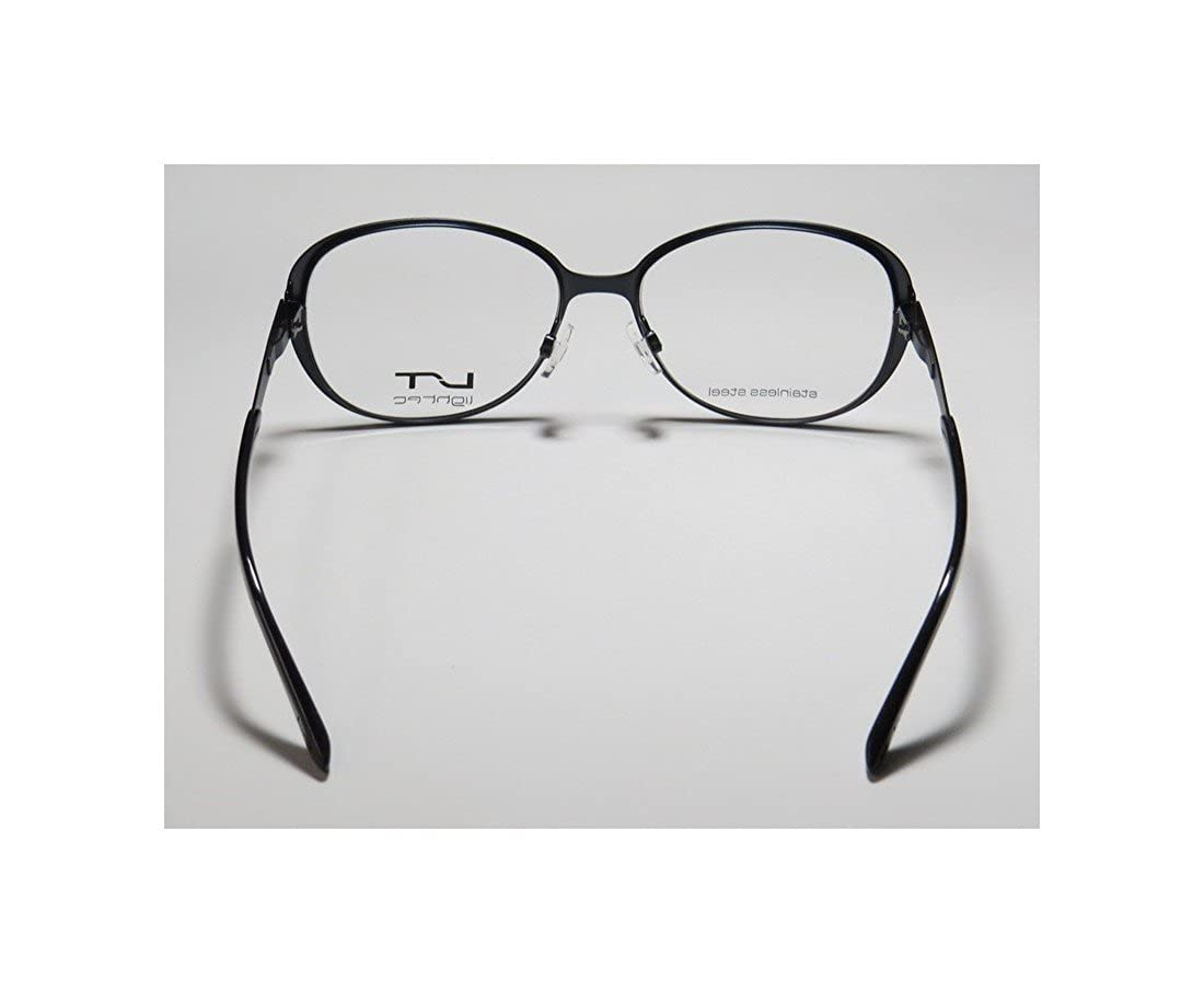 Lightec By Morel 7010l Mens//Womens Butterfly Flexible Hinges Stainless Steel Premium Trendy Eyeglasses//Spectacles