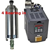 220V 4KW Water Cooled Er20 Japanese Bearing CNC Spindle Motor and Matching 4kw Variable Frequency Drive Inverter