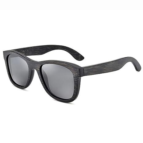 Gafas de Sol polarizadas, Lentes de bambú, Unisex, Adultos ...