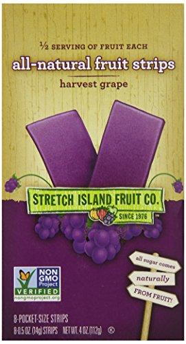 Стретч Island Все натуральные фруктовые полоски, виноград, 8-Граф Полосы, 0,05 унции (в упаковке 6)