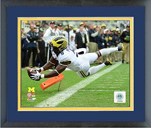 (Jabrill Peppers Michigan Wolverines NCAA Action Photo (Size: 12.5