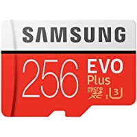 Samsung 256GB EVO Plus Class 10 UHS-I microSDXC U3 with Adapter (MB-MC256GA/EU) Read:up to 100MB/s,Write:up to 90MB/s !
