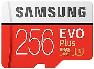 Samsung EVO Plus - Tarjeta de memoria de 256 GB con adaptador SD (100 MB/s, U3)