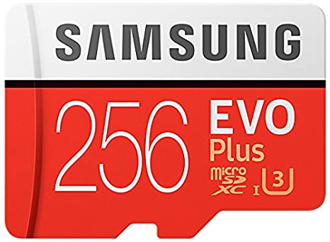 Samsung 256GB EVO Plus Class 10 UHS-I microSDXC U3 with Adapter (MB-MC256GA/EU) Read:up to 100MB/s <span at amazon