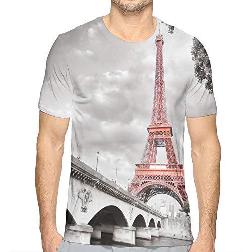 - NICOKEE 3D T-Shirt, Eiffel Tower Bridge Capital City Cool Graphic T Shirt for Mens/Boys/Youth
