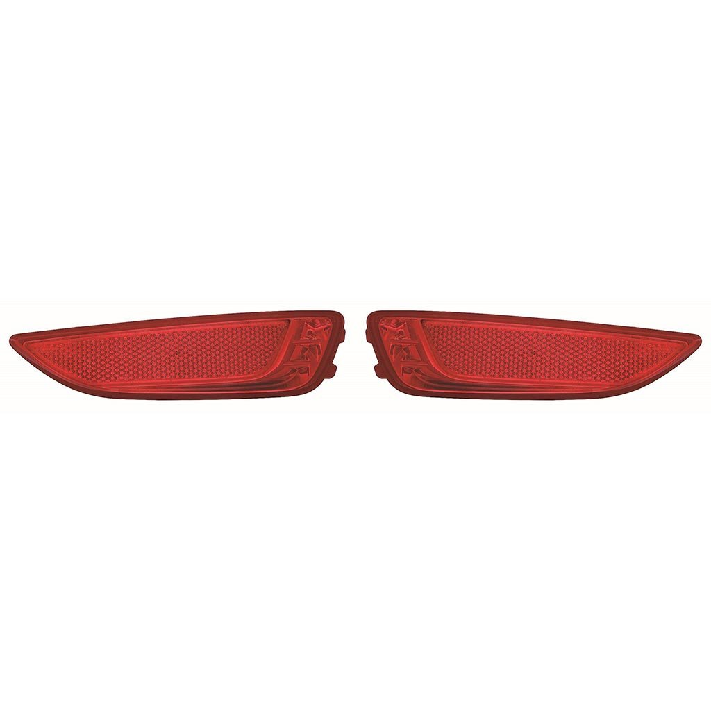 Fits Hyundai Accent Hatchback 12-16 Rear Reflector Pair Driver and Passenger Side (CAPA Certified)
