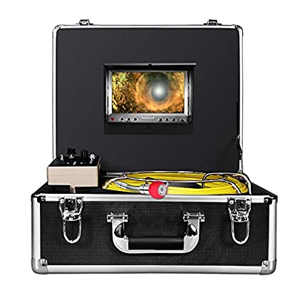 Pipe Pipeline Inspection Camera,Anysun Drain Sewer Industrial Endoscope-Endoscope Inspection Camera-Snake Video Inspection Camera with 7Inch LCD Monitor(50m/164FT,Include 8GB SD Card)