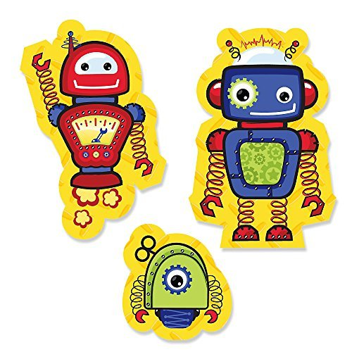 Robots Shaped Shower Birthday Cut Outs