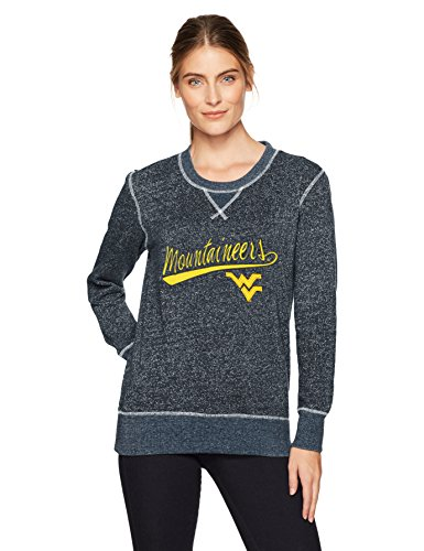 (NCAA West Virginia Mountaineers Women's Ots Seneca Crew Neck Pullover, Large, Fall Navy)