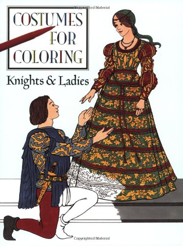 [Knights and Ladies (Costumes for Coloring)] (Social King Costume)