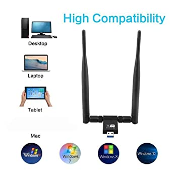 EqWong Adaptador inalámbrico, AC 1200 Mbps Wireless 5G ...