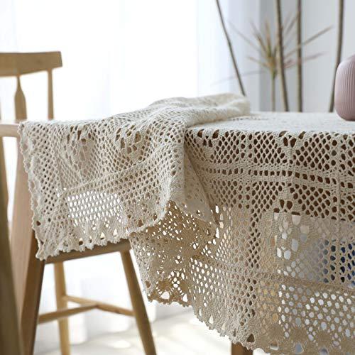 Copritavolo A Uncinetto.Amazon Com Simmia Home Rustic Crochet Tablecloth Rectangle