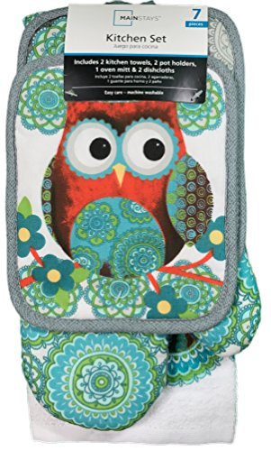 owl kitchen canisters mainstays 7 kitchen set owl import it all 14495