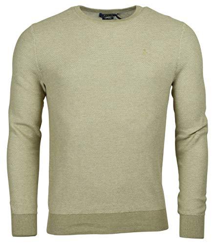 Polo Ralph Lauren Men's Textured Pima Cotton Sweater - L - Camel