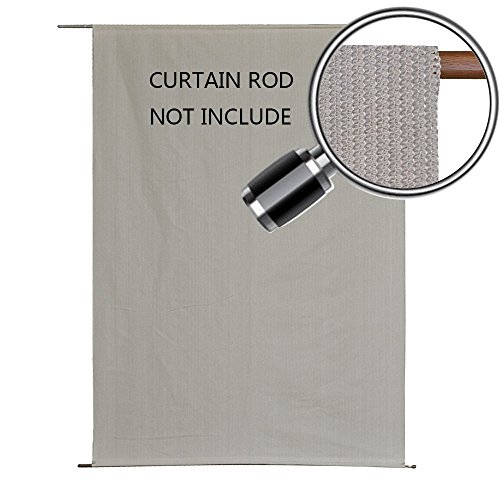 Alion Home Sun Shade Rod Pocket Panel for Patio, Awning, Window Cover, Instant Canopy Side Wall, Pergola or Gazebo (6'x 4', Smoke (4' Side Pocket)