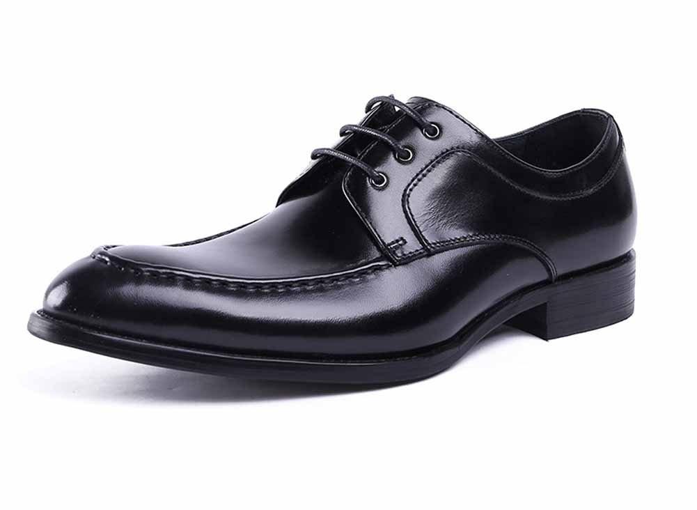 GLSHI Zapatos de Derby de punta estrecha para hombres 2018 Zapatos de trabajo británicos nuevos Trajes de negocios Zapatos de boda de moda (Color : Negro, tamaño : 38) 38|Negro