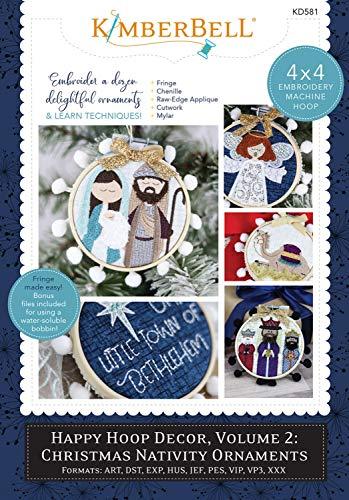 Kimberbell Nativity Ornaments, Hoop Decor Volume 2 (Christmas Embroidery Machine)