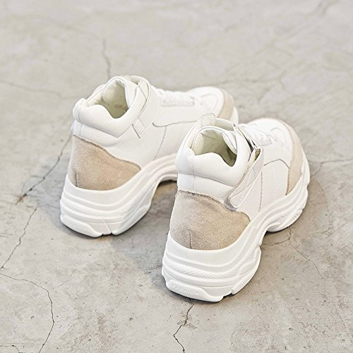 5 CN37 Color White Small EU37 White Version Fire 5 Size cozy Thick UK4 Shoes shoes Red Super Korean Bottom Sports Shoes LVZAIXI UpqCwx
