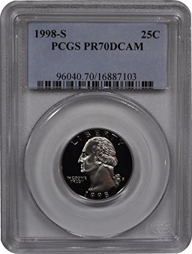 1998 S Washington Quarter Quarter PR70 PCGS
