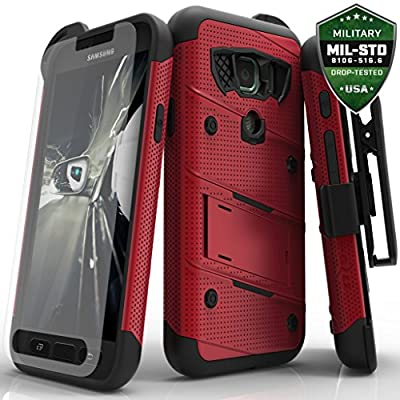 Samsung Galaxy S7 Active Case, Zizo [Bolt Series] w/ [Galaxy S7 Active Screen Protector] Kickstand [Military Grade DropTested] Holster - S7 Active