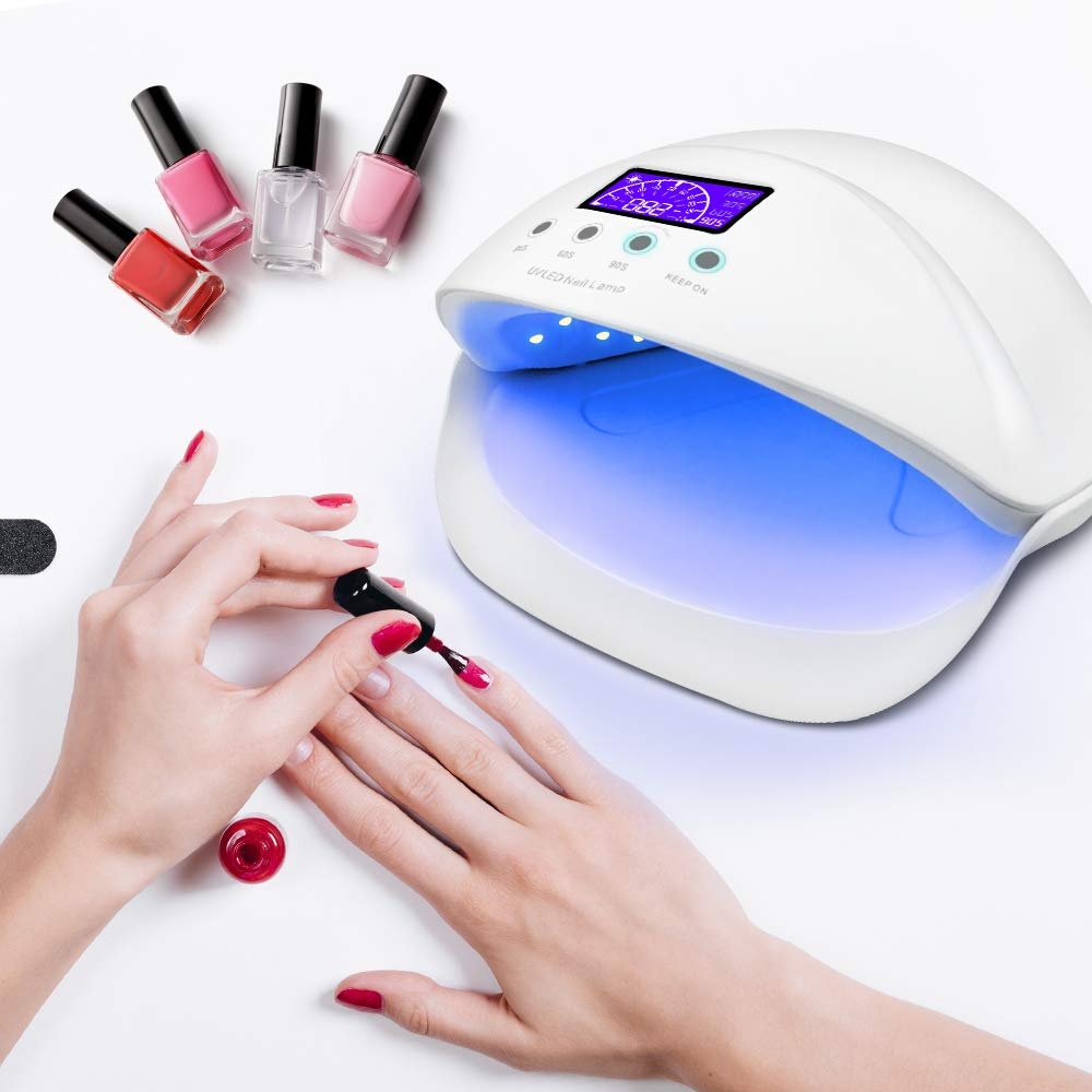 Amazon.com : LED UV Light Quicker Harden Shellac Nail Dryer Lamp 50W UV Nail Curing Lamp for Gel Nail Polish with Sensor, 30s 60s 90s Timer Shipped from ...