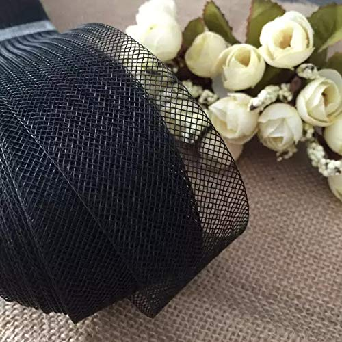 VIVIPA 2'' inch Wide Polyester Black Horsehair Braid, Selling Per Roll/ 50 Yards