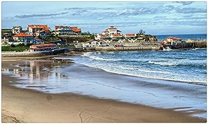 España Costa del Mar Casas Playa de arena Comillas Cantabria ciudades naturaleza viaje sitios postal Post tarjeta: Amazon.es: Oficina y papelería