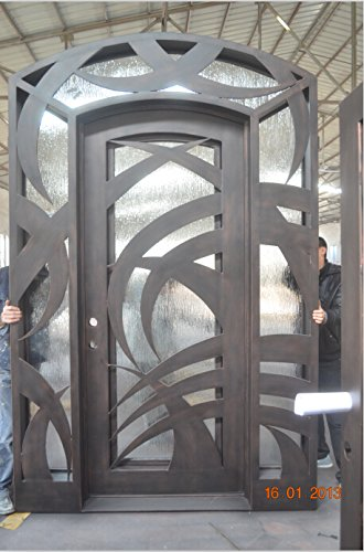 72 X 96 Beautiful Modern Custom Wrought Iron Entry Doors With