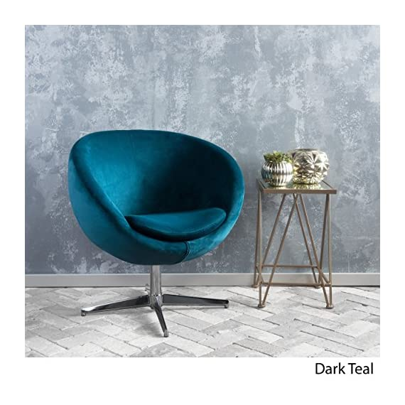 Great Deal Furniture 299533 Sphera Dark Teal Velvet Modern Chair, - Includes: one (1) chair. Material: velvet. Velvet composition: 100% polyester Leg Material: Steel. Color: Dark Teal. Leg color: Chrome Light assembly required. Dimensions: 29. 50 inches deep x 23. 50 inches wide x 32. 75 inches high - living-room-furniture, living-room, accent-chairs - 51j UESCFoL. SS570  -