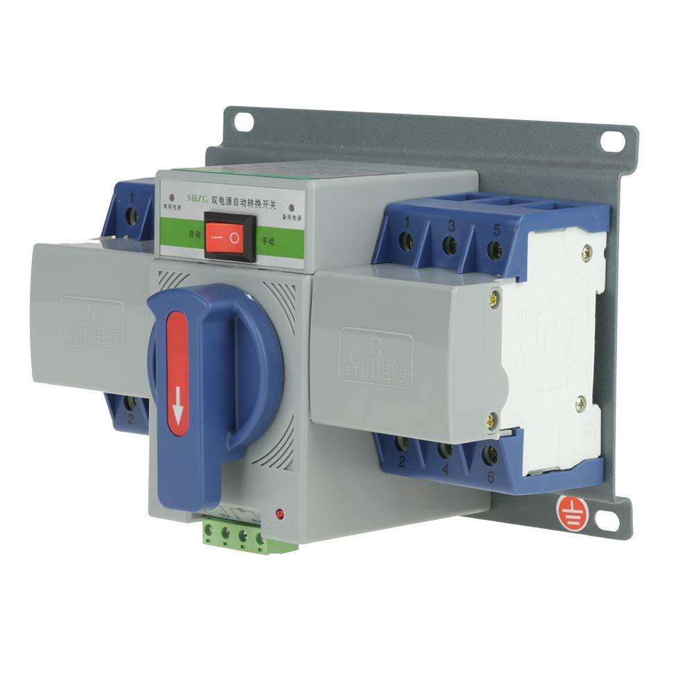 220V 63A 3P AutomaticTransferSwitch, Mini Intelligent Dual Power Automatic Transfer Switch Circuit Breaker
