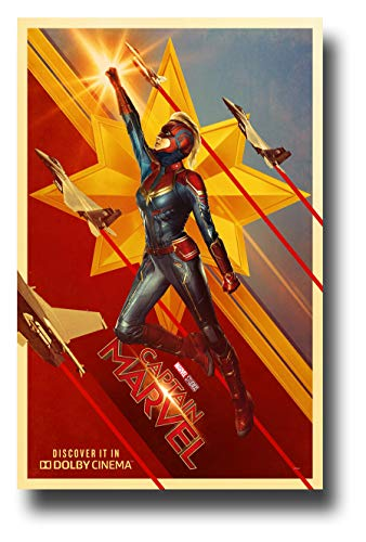 Captain Marvel Poster Movie Promo 11 x 17 inches Flying Jets Dolby Cinema