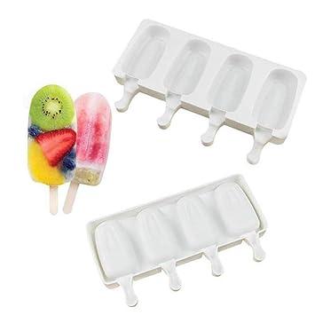 Ralladores y cortadores manuales 4 Incluso Silicone Popsicle Mould ...