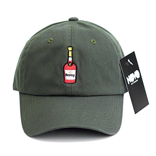 hennessy-dad-hat-baseball-cap-henny-polo-cap-olive-green-henny