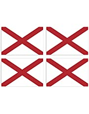 KIWISTAR Stickers 4,5 x 3 cm Alabama Montgomery - Duitse staat autosticker VS vlag land wapen vlag sticker kenteken