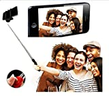 Aux Wired Selfie Stick Handheld Monopod Extendable Fold Selfie Stick for Smartphones and Cameras with Shutter Controls Button on Handle with free stainless steel egg mould inside gift..