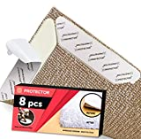 X-Protector Rug Grippers Best 8 pcs Anti Curling Rug Gripper. Keeps Your Rug in Place & Makes Corners Flat. Premium Carpet Gripper with Renewable Gripper Tape –Ideal Anti Slip Rug Pad for Your Rugs