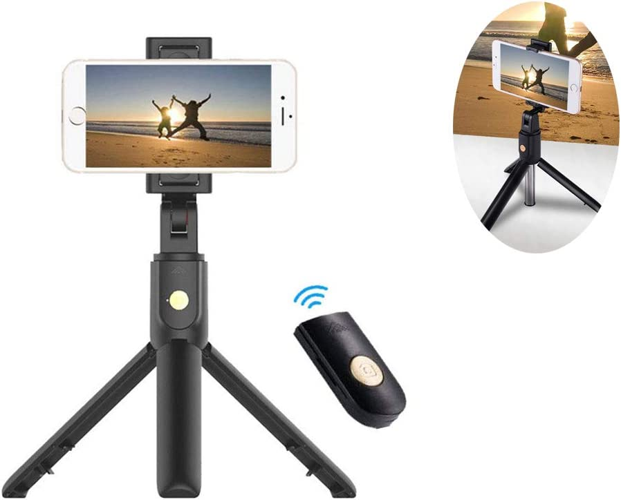 Android YTBLF Foldable Bluetooth Selfie Stick 360-degree Swivel Retractable Tripod with Detachable Wireless Remote Control for Apple