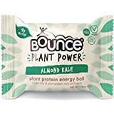 Bounce Plant Protein Energy Ball, Non-GMO, Vegan Snack with Natural Ingrediants, Almond Kale, 1.41 Ounce per Ball, 12 Count