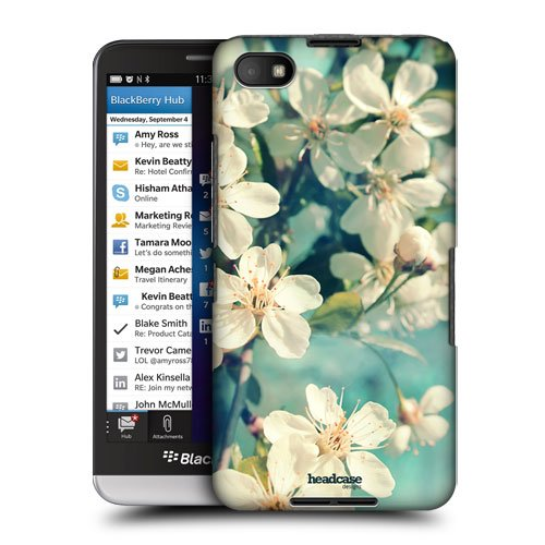Head Case Designs White Spring Cherry Blossoms Flowers Protective Snap-on Hard Back Case Cover for BlackBerry Z30