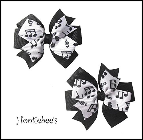 Music Notes Toddler Hair Bow Set