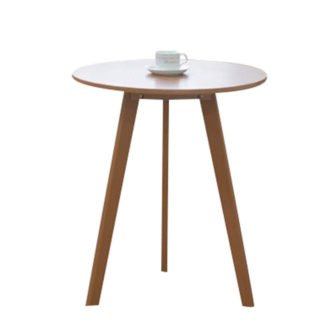 B 6070CM Solid Wood Round Coffee Table Nordic Casual Coffee Table Living Room Bedroom Table,B,60  70CM