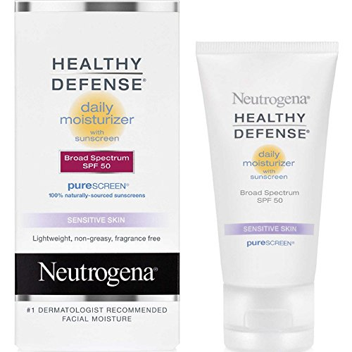 neutrogena healthy defense daily moisturizer sensitive skin spf 50 lotion oz best. Black Bedroom Furniture Sets. Home Design Ideas